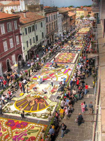 Flower carpet at Genzano