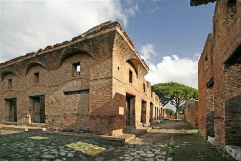 Roman neighborhood at Ostia Antica