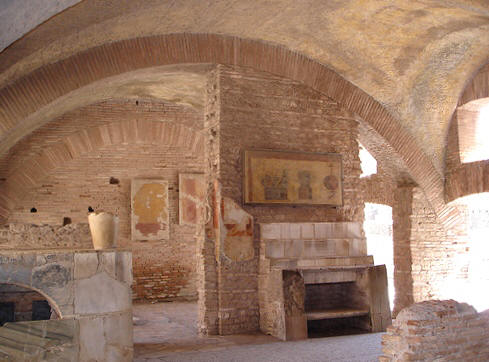 Roman tavern at Ostia Antica