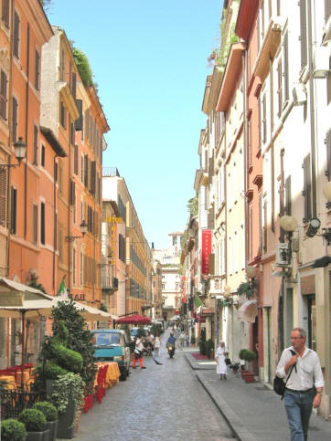 Cafes near the Spanish Steps