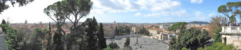 View from the Villa Borghese Park